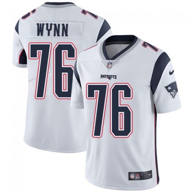 Nike Patriots #76 Isaiah Wynn White Men's Stitched NFL Vapor Untouchable Limited Jersey