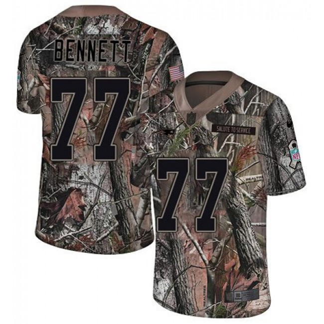 Nike Patriots #77 Michael Bennett Camo Men's Stitched NFL Limited Rush Realtree Jersey