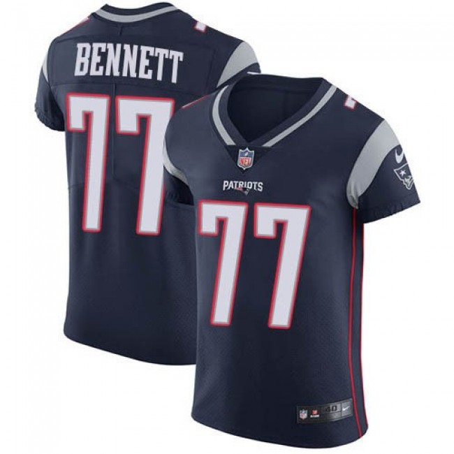 Nike Patriots #77 Michael Bennett Navy Blue Team Color Men's Stitched NFL Vapor Untouchable Elite Jersey