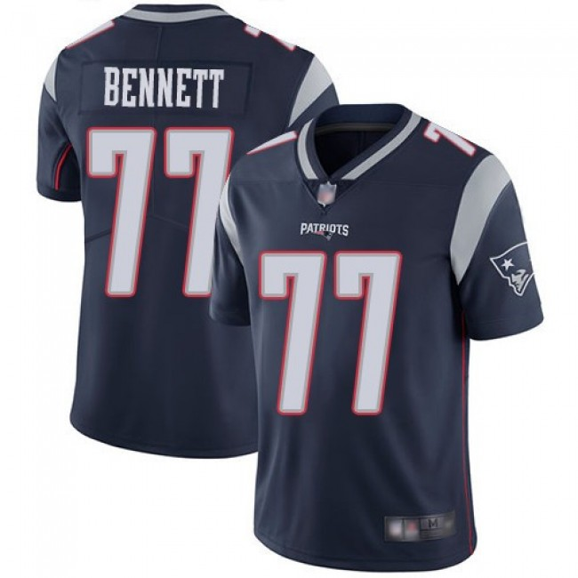 Nike Patriots #77 Michael Bennett Navy Blue Team Color Men's Stitched NFL Vapor Untouchable Limited Jersey