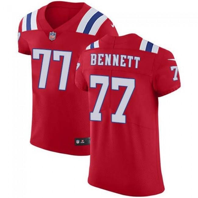 Nike Patriots #77 Michael Bennett Red Alternate Men's Stitched NFL Vapor Untouchable Elite Jersey