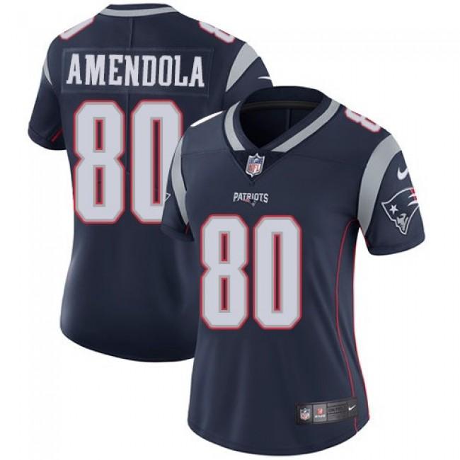 Women's Patriots #80 Danny Amendola Navy Blue Team Color Stitched NFL Vapor Untouchable Limited Jersey