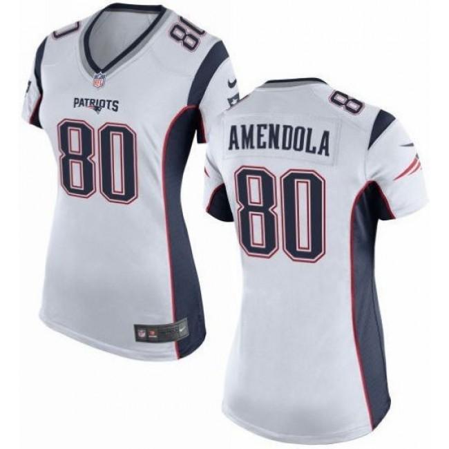 Women's Patriots #80 Danny Amendola White Stitched NFL New Elite Jersey