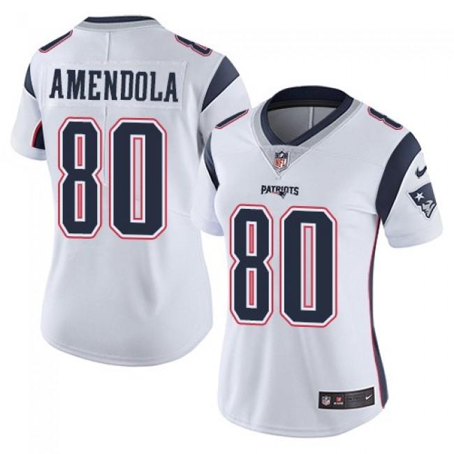 Women's Patriots #80 Danny Amendola White Stitched NFL Vapor Untouchable Limited Jersey