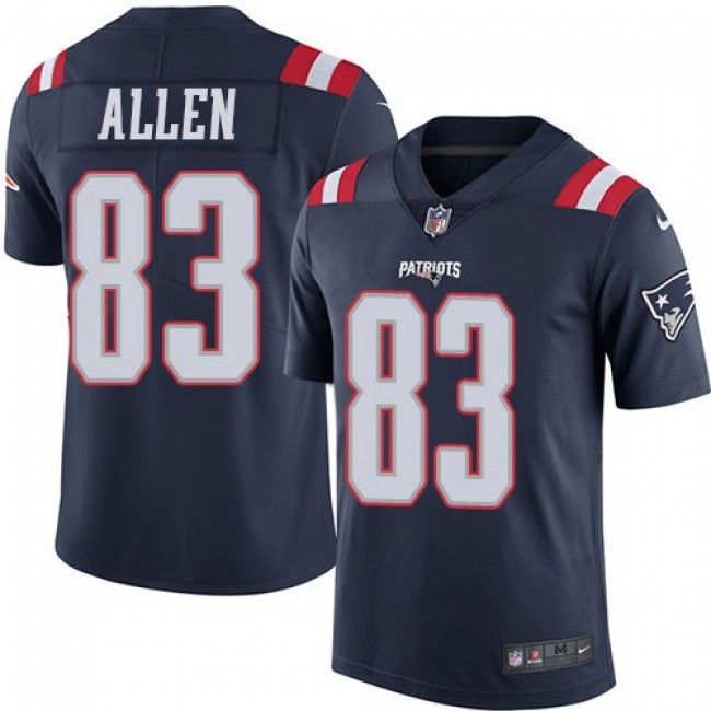 New England Patriots #83 Dwayne Allen Navy Blue Youth Stitched NFL Limited Rush Jersey