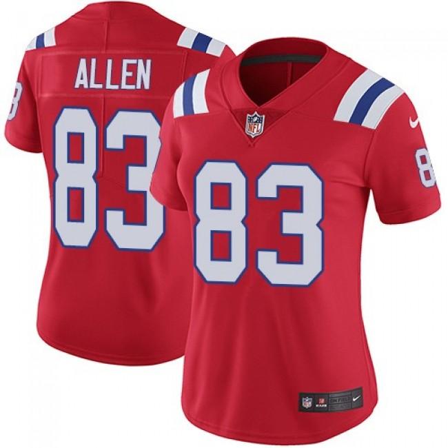 Women's Patriots #83 Dwayne Allen Red Alternate Stitched NFL Vapor Untouchable Limited Jersey