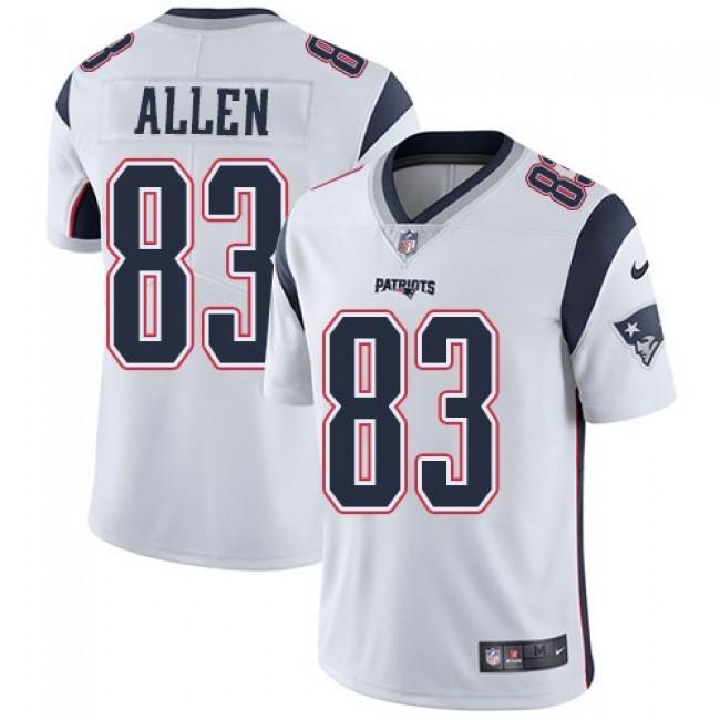 New England Patriots #83 Dwayne Allen White Youth Stitched NFL Vapor Untouchable Limited Jersey