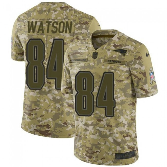 Nike Patriots #84 Benjamin Watson Camo Men's Stitched NFL Limited 2018 Salute To Service Jersey