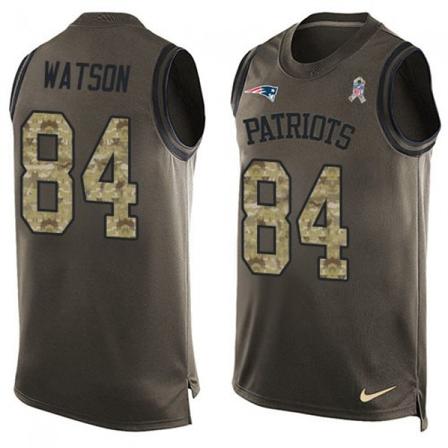 Nike Patriots #84 Benjamin Watson Green Men's Stitched NFL Limited Salute To Service Tank Top Jersey