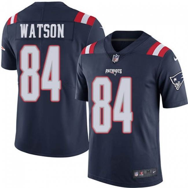 Nike Patriots #84 Benjamin Watson Navy Blue Men's Stitched NFL Limited Rush Jersey
