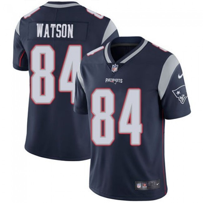 Nike Patriots #84 Benjamin Watson Navy Blue Team Color Men's Stitched NFL Vapor Untouchable Limited Jersey