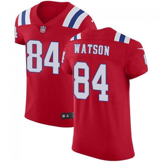 Nike Patriots #84 Benjamin Watson Red Alternate Men's Stitched NFL Vapor Untouchable Elite Jersey