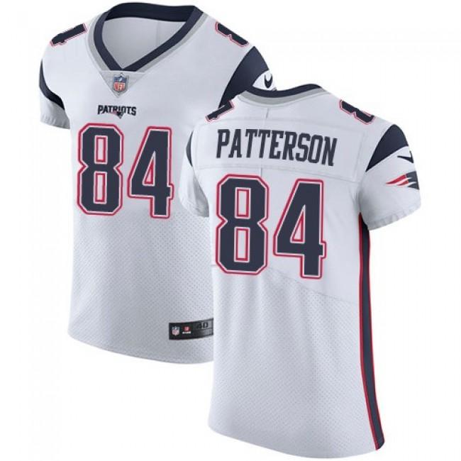 Nike Patriots #84 Cordarrelle Patterson White Men's Stitched NFL Vapor Untouchable Elite Jersey