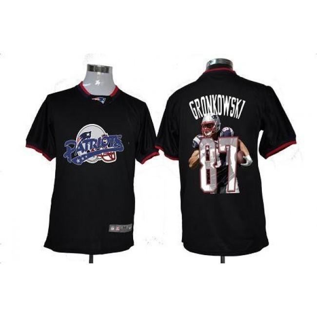 Nike Patriots #87 Rob Gronkowski Black Men's NFL Game All Star Fashion Jersey