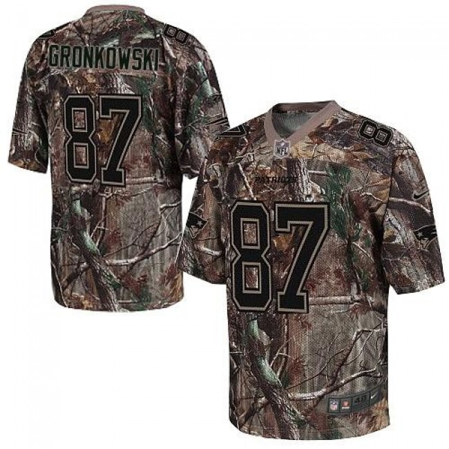 Nike Patriots #87 Rob Gronkowski Camo Men's Stitched NFL Realtree Elite Jersey
