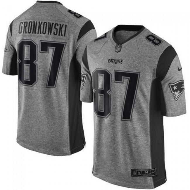 Nike Patriots #87 Rob Gronkowski Gray Men's Stitched NFL Limited Gridiron Gray Jersey