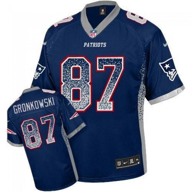 Nike Patriots #87 Rob Gronkowski Navy Blue Team Color Men's Stitched NFL Elite Drift Fashion Jersey