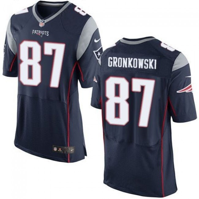 Nike Patriots #87 Rob Gronkowski Navy Blue Team Color Men's Stitched NFL New Elite Jersey