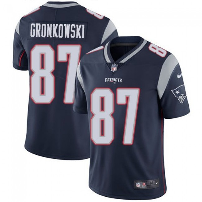 New England Patriots #87 Rob Gronkowski Navy Blue Team Color Youth Stitched NFL Vapor Untouchable Limited Jersey