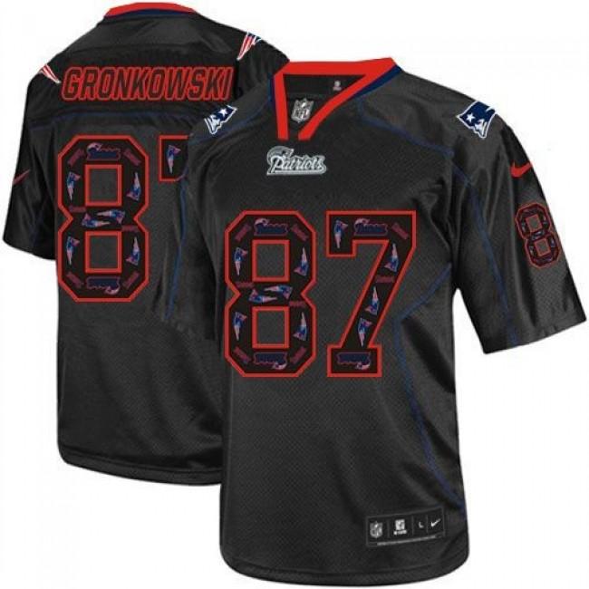 Nike Patriots #87 Rob Gronkowski New Lights Out Black Men's Stitched NFL Elite Jersey