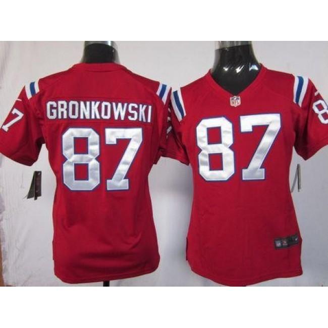 Women's Patriots #87 Rob Gronkowski Red Alternate Stitched NFL Elite Jersey