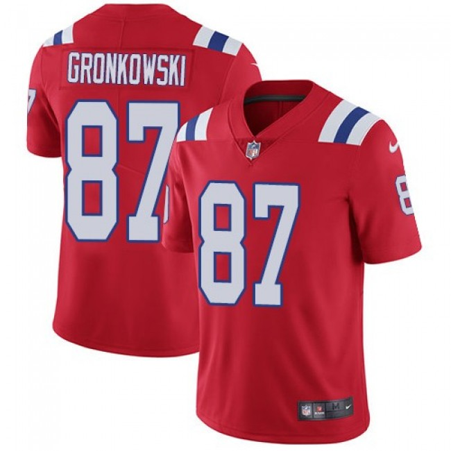New England Patriots #87 Rob Gronkowski Red Alternate Youth Stitched NFL Vapor Untouchable Limited Jersey