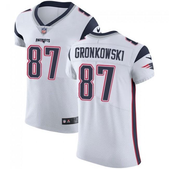 Nike Patriots #87 Rob Gronkowski White Men's Stitched NFL Vapor Untouchable Elite Jersey