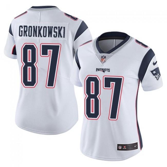 Women's Patriots #87 Rob Gronkowski White Stitched NFL Vapor Untouchable Limited Jersey