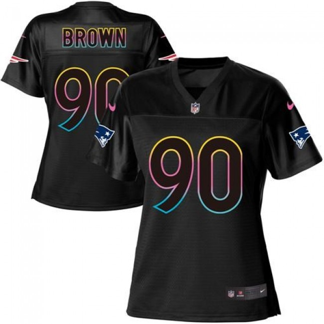 Women's Patriots #90 Malcom Brown Black NFL Game Jersey