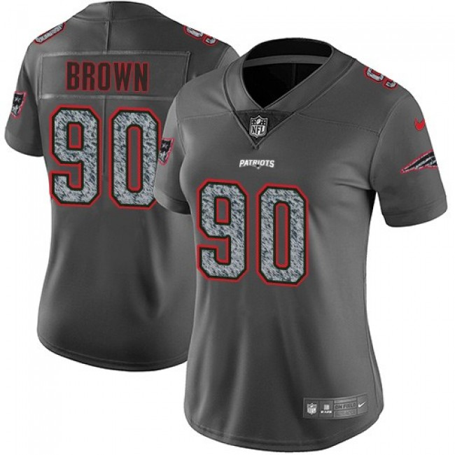 Women's Patriots #90 Malcom Brown Gray Static Stitched NFL Vapor Untouchable Limited Jersey