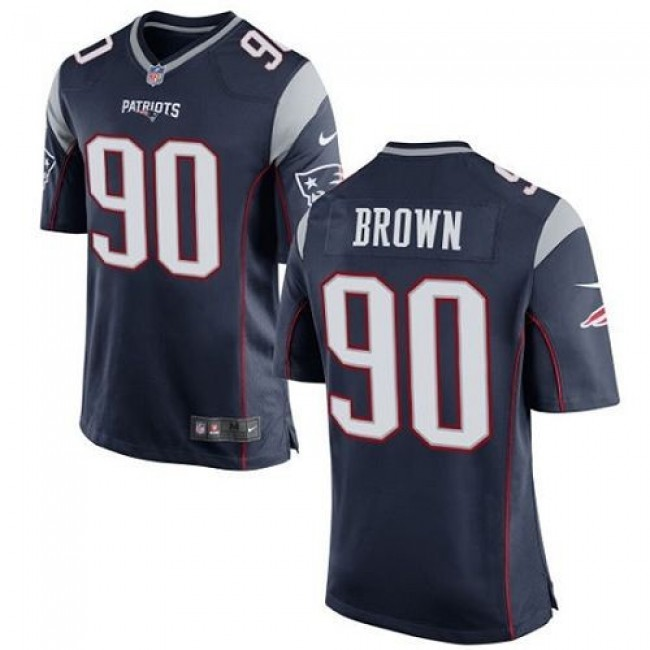 New England Patriots #90 Malcom Brown Navy Blue Team Color Youth Stitched NFL New Elite Jersey