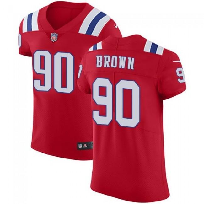 Nike Patriots #90 Malcom Brown Red Alternate Men's Stitched NFL Vapor Untouchable Elite Jersey