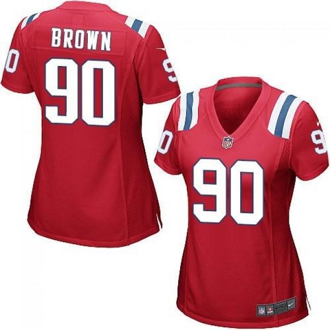 Women's Patriots #90 Malcom Brown Red Alternate Stitched NFL Elite Jersey