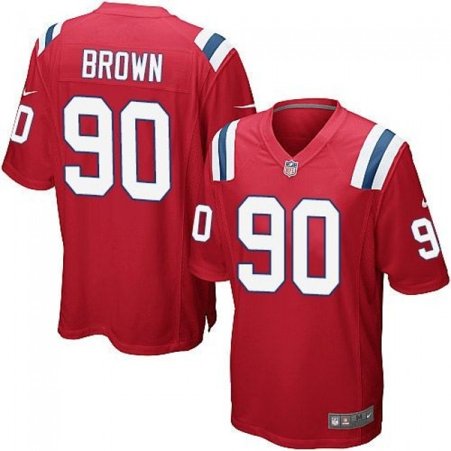 New England Patriots #90 Malcom Brown Red Alternate Youth Stitched NFL Elite Jersey