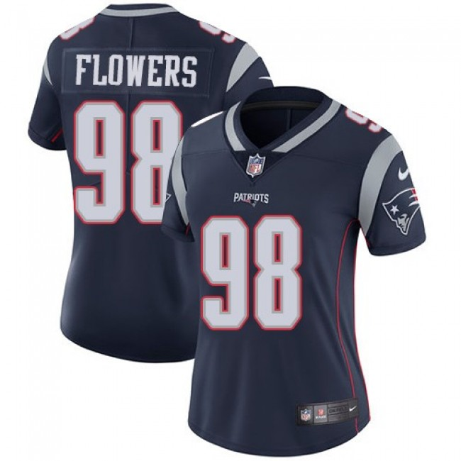 Women's Patriots #98 Trey Flowers Navy Blue Team Color Stitched NFL Vapor Untouchable Limited Jersey
