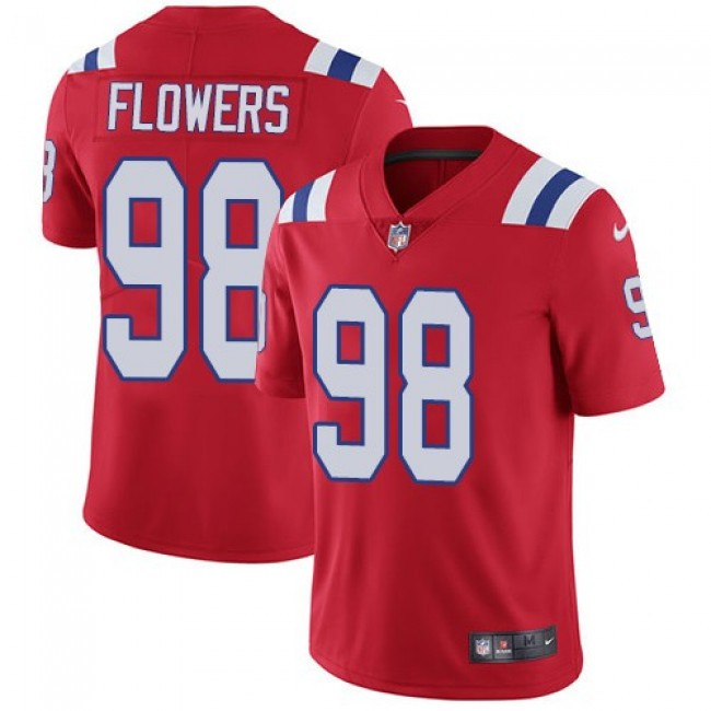 New England Patriots #98 Trey Flowers Red Alternate Youth Stitched NFL Vapor Untouchable Limited Jersey
