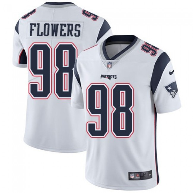 New England Patriots #98 Trey Flowers White Youth Stitched NFL Vapor Untouchable Limited Jersey