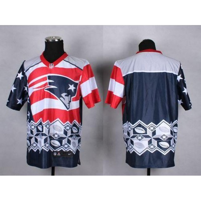Nike Patriots Blank Navy Blue Men's Stitched NFL Elite Noble Fashion Jersey
