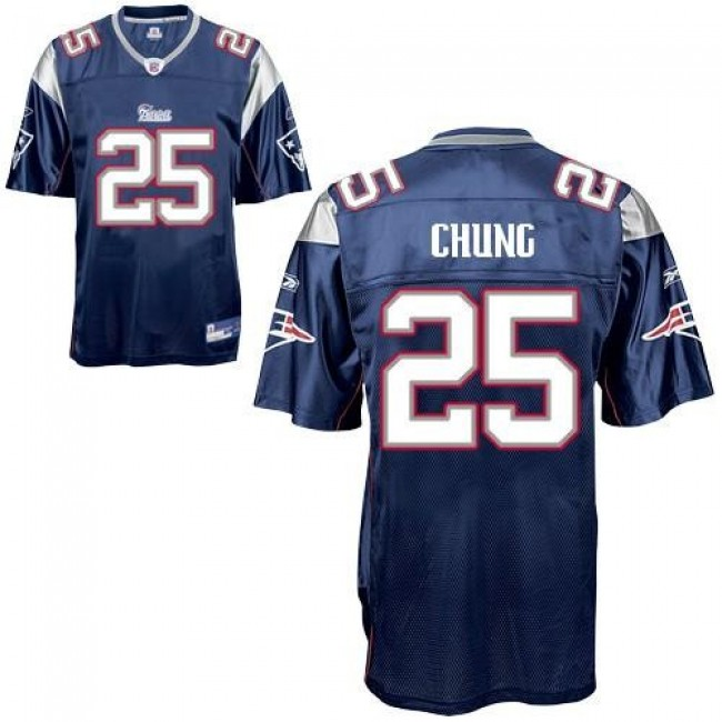 Patriots #25 Patrick Chung Dark Blue Stitched NFL Jersey