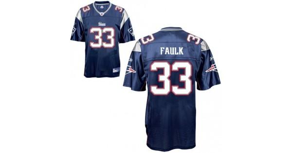 NFL Jersey 45-Patriots #33 Kevin Faulk Blue Stitched NFL Jersey