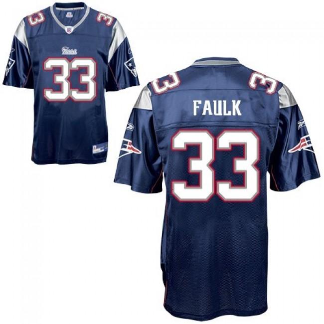 Patriots #33 Kevin Faulk Blue Stitched NFL Jersey