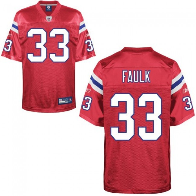 Patriots #33 Kevin Faulk Red Alternate Stitched NFL Jersey