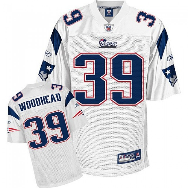 Patriots #39 Danny Woodhead White Stitched NFL Jersey