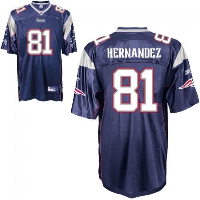 Patriots #81 Aaron Hernandez Dark Blue Stitched NFL Jersey