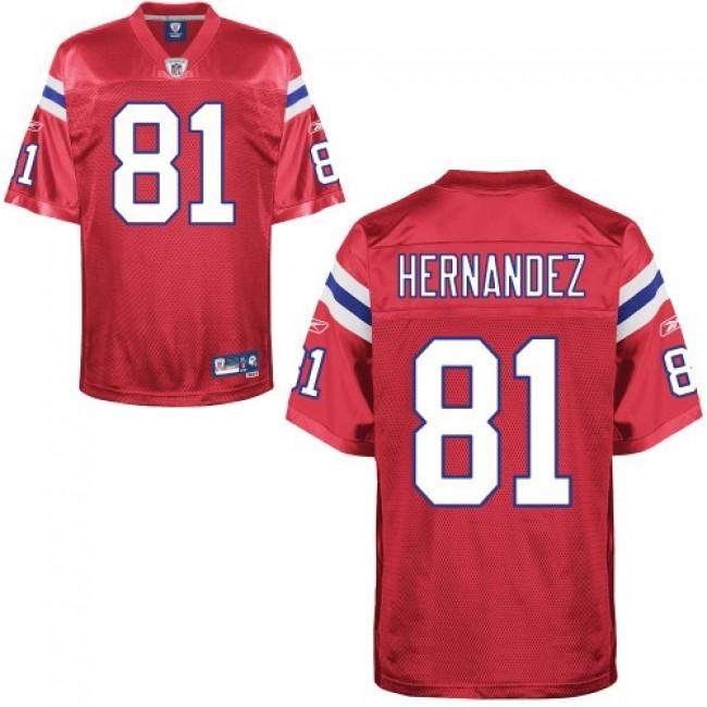Patriots #81 Aaron Hernandez Red Stitched NFL Jersey