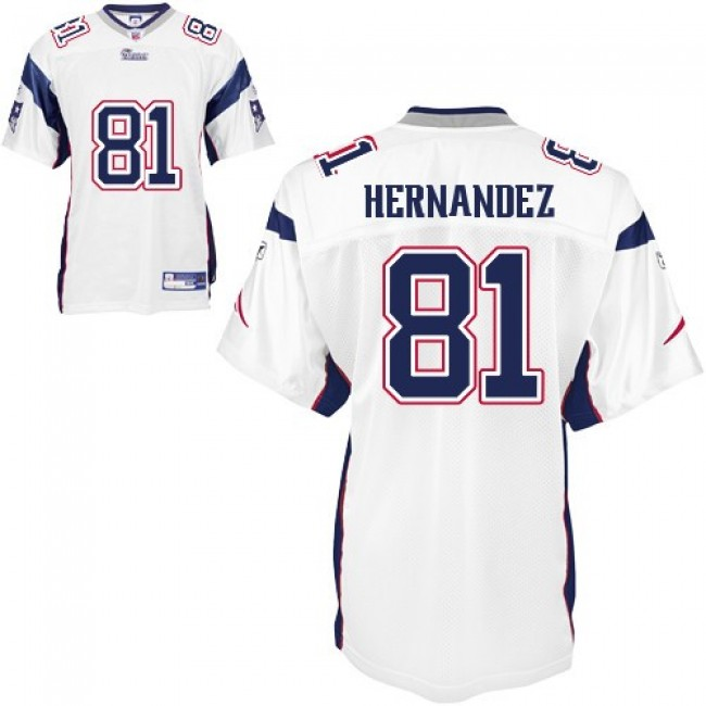 Patriots #81 Aaron Hernandez White Stitched NFL Jersey