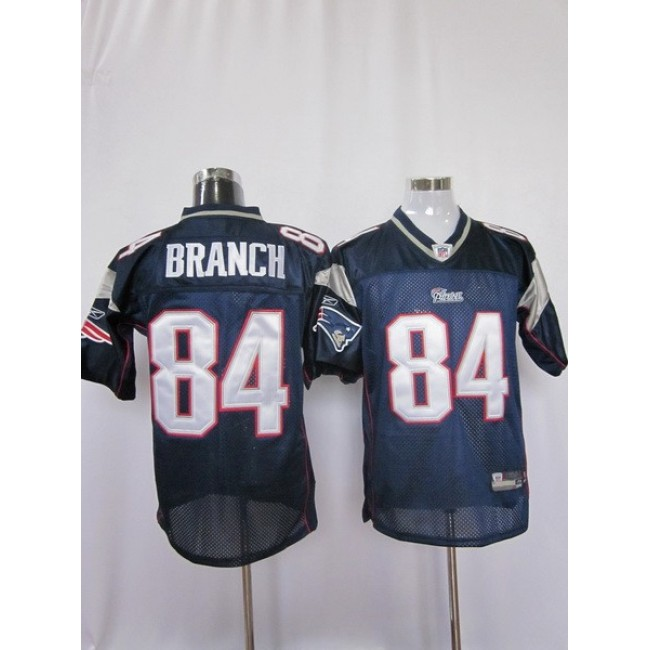 Patriots #84 Deion Branch Dark Blue Stitched NFL Jersey