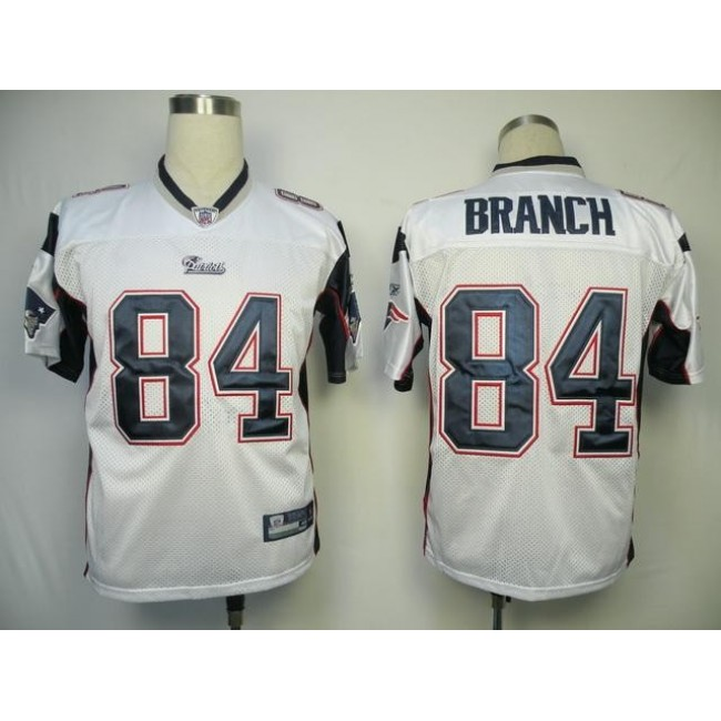 Patriots #84 Deion Branch White Stitched NFL Jersey