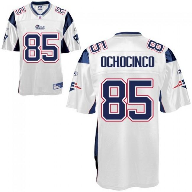 Patriots #85 Chad Ochocinco White Stitched NFL Jersey