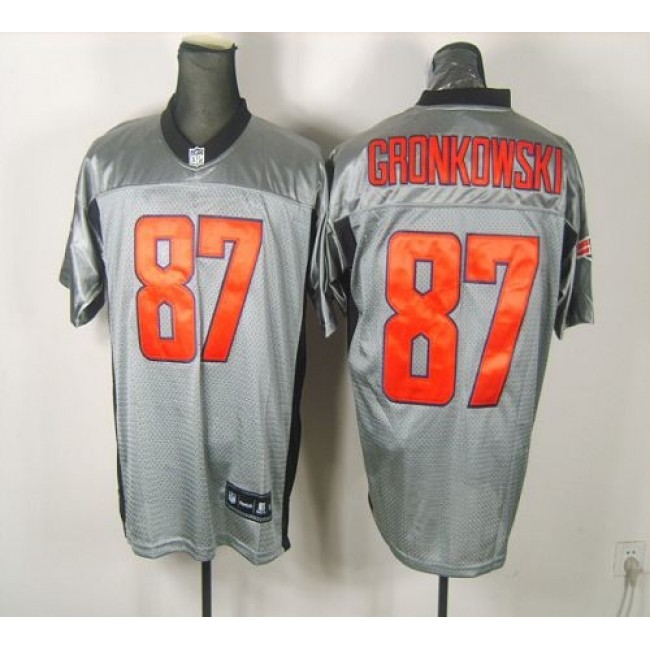 Patriots #87 Rob Gronkowski Grey Shadow Stitched NFL Jersey